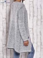 TOM TAILOR Biały wełniany puszysty sweter                                  zdj.                                  5