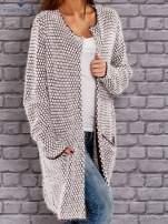 TOM TAILOR Bordowy wełniany puszysty sweter                                  zdj.                                  3