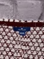 TOM TAILOR Bordowy wełniany puszysty sweter                                  zdj.                                  4