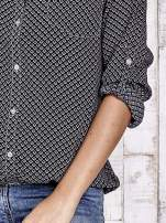 TOM TAILOR Czarna koszula z drobnym geometrycznym wzorem                                  zdj.                                  7
