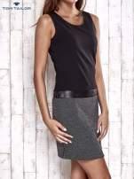 TOM TAILOR Czarna sukienka o kroju litery A                                  zdj.                                  4