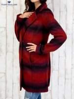 TOM TAILOR Czerwony jednorzędowy płaszcz boyfriend w kratę                                                                          zdj.                                                                         4