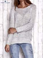 TOM TAILOR Różowy ażurowy sweter                                                                          zdj.                                                                         1