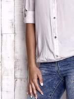 TOM TAILOR Ecru dekatyzowana koszula z podwijanymi rękawami