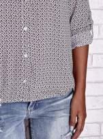 TOM TAILOR Ecru koszula z graficznym nadrukiem