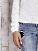 TOM TAILOR Ecru włochaty sweter z dłuższym tyłem                                                                          zdj.                                                                         6