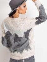 TOM TAILOR Szary wełniany sweter z abstrakcyjnym deseniem                                                                          zdj.                                                                         6