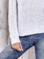 TOM TAILOR Niebieski sweter z dodatkiem wełny z alpaki                                  zdj.                                  5