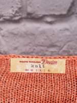 TOM TAILOR Pomarańczowy melanżowy sweter                                   zdj.                                  4