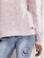 TOM TAILOR Różowy sweter z dodatkiem wełny z alpaki                                  zdj.                                  7