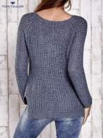 TOM TAILOR Szary ażurowy sweter                                  zdj.                                  5