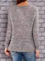 TOM TAILOR Szary melanżowy sweter fluffy                                  zdj.                                  3