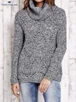 TOM TAILOR Szary melanżowy sweter z golfem                                                                          zdj.                                                                         2