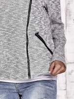 TOM TAILOR Szary sweter bouclé o kroju ramoneski