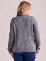 TOM TAILOR Szary wełniany sweter o grubszym splocie                                                                          zdj.                                                                         3