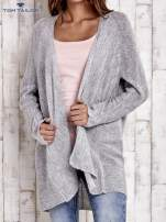 TOM TAILOR Szary wełniany sweter oversize                                  zdj.                                  1