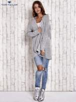 TOM TAILOR Szary wełniany sweter oversize                                  zdj.                                  2