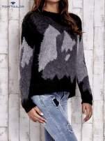 TOM TAILOR Kremowy wełniany sweter z abstrakcyjnym deseniem                                                                          zdj.                                                                         4