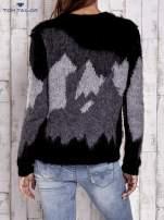 TOM TAILOR Kremowy wełniany sweter z abstrakcyjnym deseniem                                                                          zdj.                                                                         5