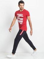 TOMMY LIFE Dresowe spodnie męskie granatowe                                  zdj.                                  4
