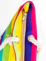 Tęczowa torba plażowa w pasy                                  zdj.                                  8