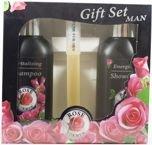 The ROSE Zestaw podarunkowy Rose for Men: szampon, żel, perfumy