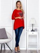 Tunika damska z malarskim sercem czerwona                                  zdj.                                  4