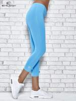 Ciemnogranatowe legginsy sportowe termalne z patką z dżetów                                                                          zdj.                                                                         2