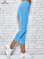 Grafitowe legginsy sportowe z dżetami na dole nogawki                                                                          zdj.                                                                         2