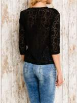 VERO MODA Czarna bluzka z koronkowym przodem                                  zdj.                                  4