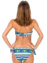 Wiązany strój kąpielowy bikini w kolorowe desenie                                  zdj.                                  3