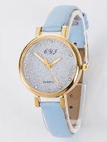 Zegarek damski glitter błękitny                                  zdj.                                  1