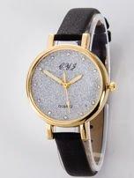 Zegarek damski glitter czarny                                  zdj.                                  1