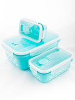 Zestaw jasnoniebieskie pojemniki do żywności 5 elementów                                  zdj.                                  5