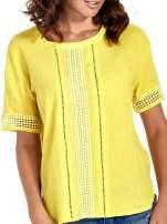 Zielona bluzka koszulowa z ażurowaniem                                  zdj.                                  5