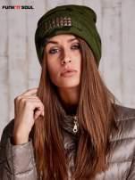 Zielona czapka moro z ćwiekami FUNK N SOUL                                  zdj.                                  1