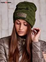 Zielona czapka moro z ćwiekami FUNK N SOUL                                  zdj.                                  2