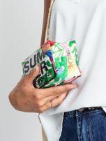 Zielona duża torba z napisem                                  zdj.                                  5