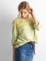 Zielona koszula z długim rękawem                                   zdj.                                  3
