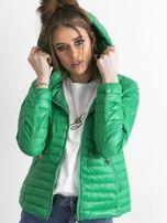 Zielona kurtka przejściowa z kapturem                                  zdj.                                  5