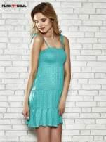 Zielona letnia sukienka w groszki Funk n Soul                                  zdj.                                  3