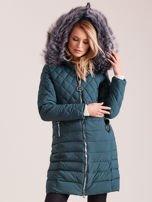 Zielona pikowana kurtka zimowa                                  zdj.                                  5