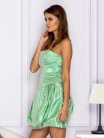 Zielona sukienka bombka z połyskiem                                  zdj.                                  5