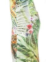 Zielona sukienka maxi w egzotyczny nadruk palm                                  zdj.                                  4