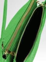 Zielona torebka dwukomorowa z paskiem                                  zdj.                                  5