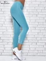 Ciemnofioletowe legginsy sportowe z patką z dżetów na dole                                                                          zdj.                                                                         2
