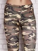 Zielone legginsy z motywem moro                                  zdj.                                  4