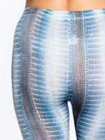 Zielone legginsy z nadrukiem skóry węża                                  zdj.                                  7