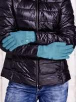Zielone rękawiczki z guzikami                                                                          zdj.                                                                         2