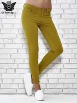 Zielone spodnie typu skinny z elastycznego materiału                                  zdj.                                  1